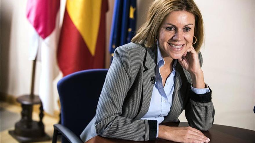 """Cospedal denuncia que por """"afán partidista"""" se han """"eliminado avances"""" en Castilla-La Mancha"""