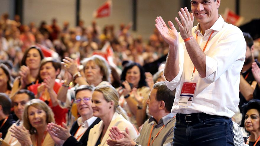Pedro Sánchez en el congreso del PSOE.