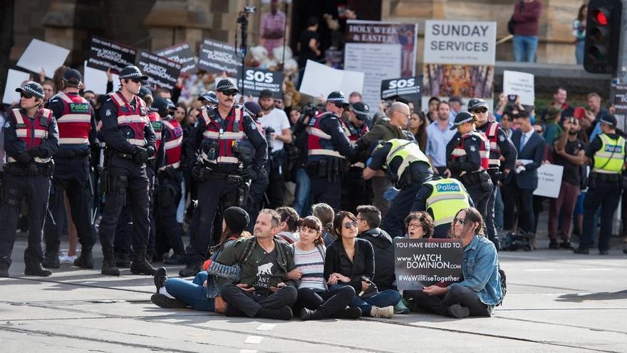 Protestas en Australia por los derechos de los animales.