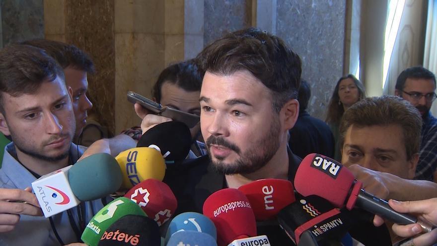 """Rufián (ERC) cree que Casado es """"un buen candidato para La Falange"""""""
