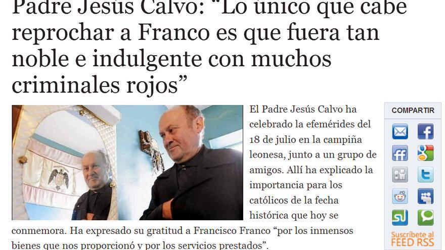 El cura franquista, en Alerta Digital.