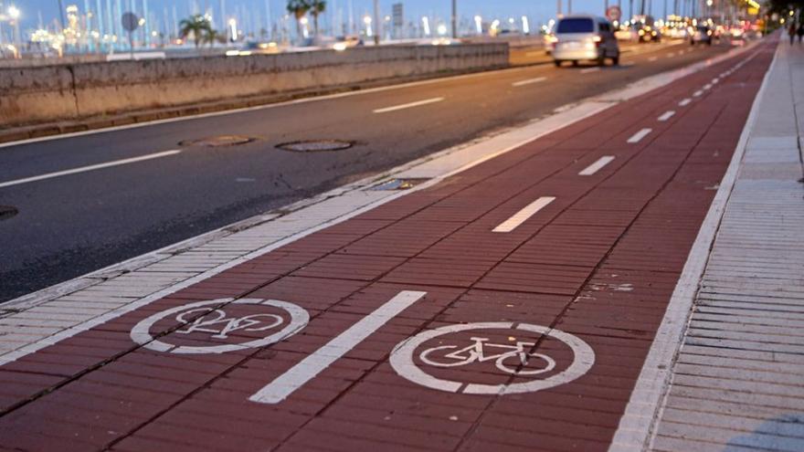 Carril Bici en la Avenida Marítima de LPGC.