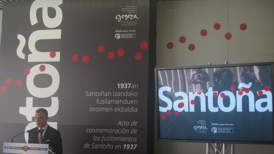 """Urkullu dice que los fusilamientos de Santoña fueron una """"actuación calculada"""" para """"aniquilar la pluralidad ideológica"""""""