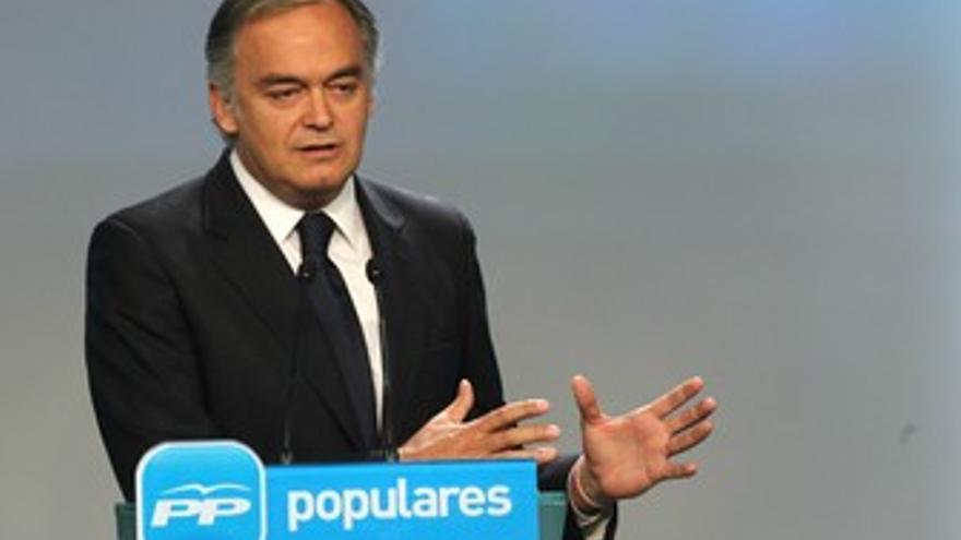 Rueda de prensa de Esteban González Pons. (EUROPA PRESS)
