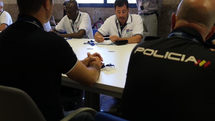 Efectivos de la Policía Nacional que participan en en el proyecto ECI-Níger gestionado por FIIAPP y financiado por la UE