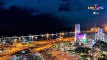 Imagen de archivo del carnaval de Santa Cruz de Tenerife durante el concierto de Juan Luis Guerra.
