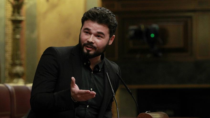 El portavoz de ERC, Gabriel Rufián, comparece en el Congreso de los Diputados