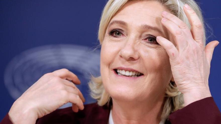 La líder del extremista Agrupación Nacional, la francesa Marine Le Pen.