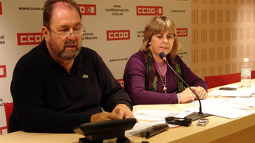 Alfonso Gil y Carmen López, CCOO Castilla-La Mancha. / Foto: CCOO