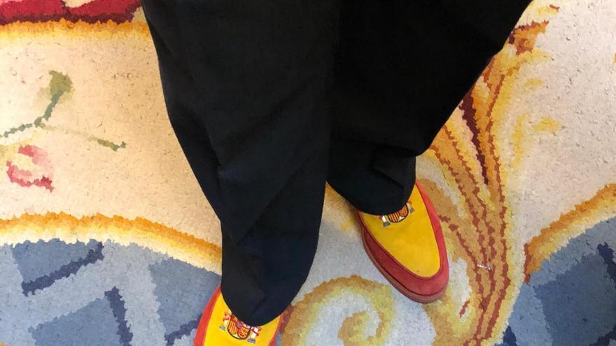 Los originales y llamativos zapatos del diputado de Vox Manuel Mestre