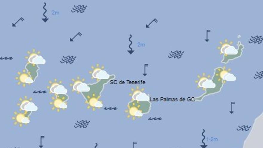 Mapa de la previsión meteorológica para este jueves, 30 de junio