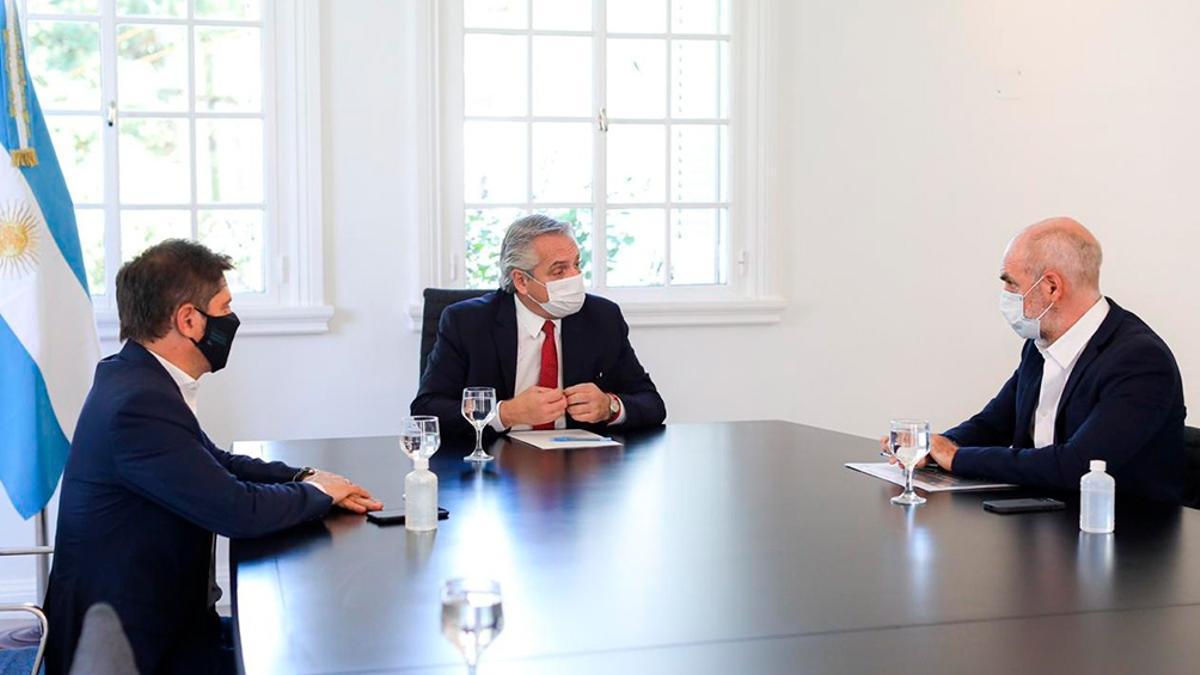 Alberto Fernánez, Horacio Rodríguez Larreta y Axel Kicillof volverán a reunirse entre el 8 y el 10 de enero.