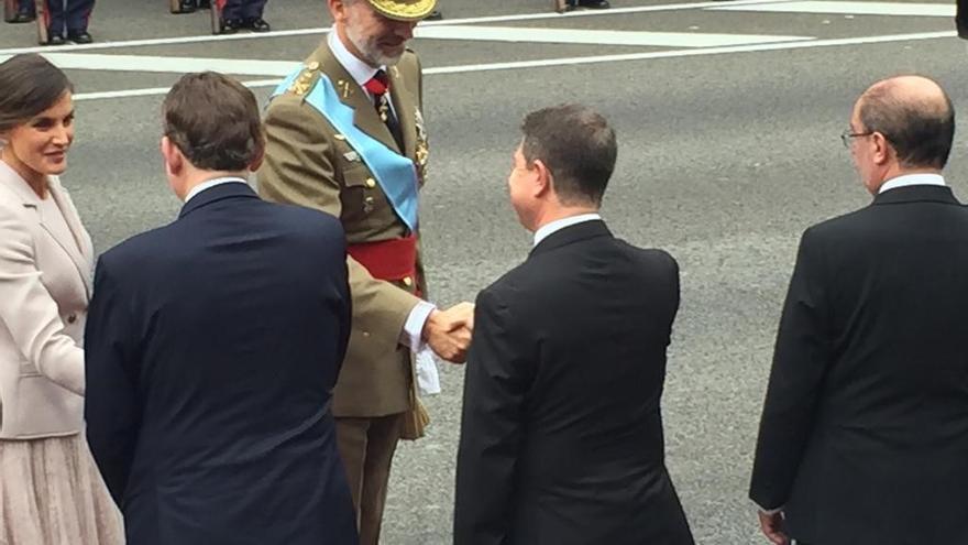 García-Page hoy en Madrid, en los actos conmemorativos del 12-O