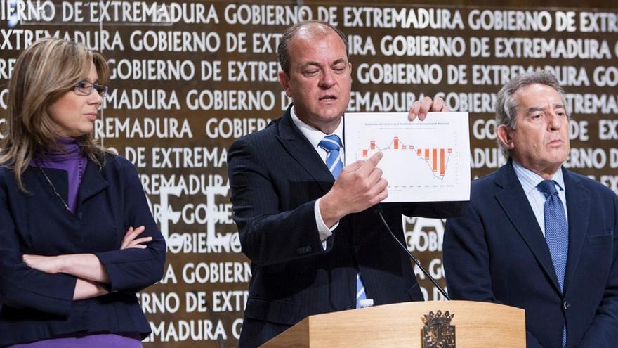 Monago y Cristina Teniente, junto con el exconsejero de Economía del GobEx Antonio Fernández / http://www.gobex.es