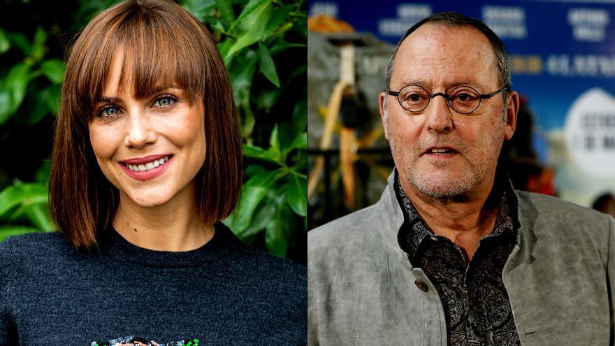 Aura Garrido y Jean Reno