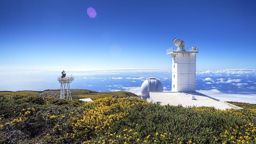 Telescopio Solar  Solar Sueco (SST) del Observatorio del Roque de Los Muchachos, en Garafía. Foto: Pablo Bonet/IAC