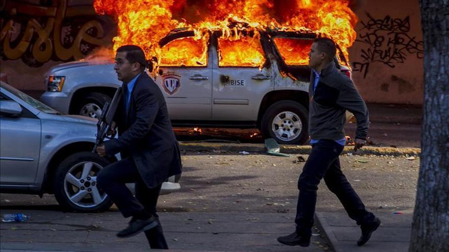 Incidentes en Caracas durante la marcha de la oposición / EFE