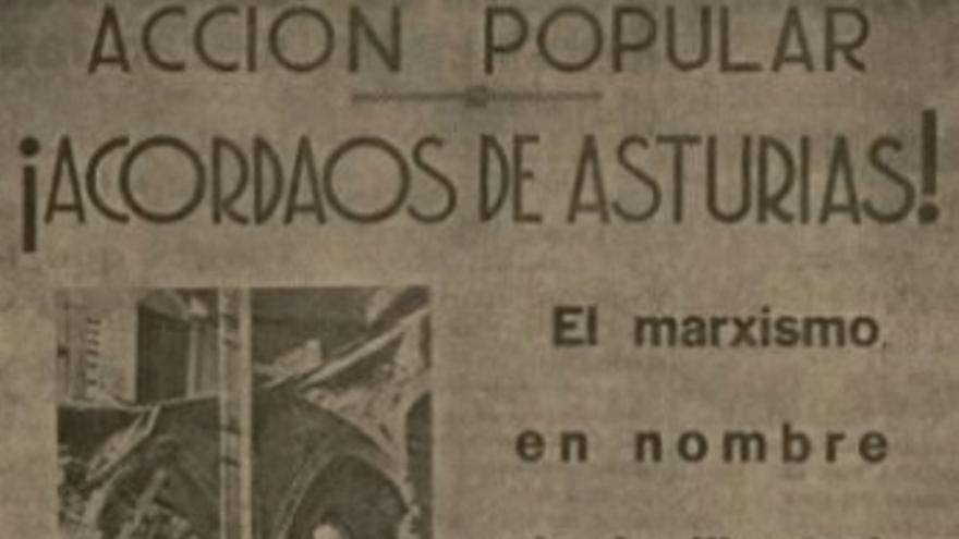 Propaganda electoral de la CEDA para las Elecciones Generales de febrero de 1936