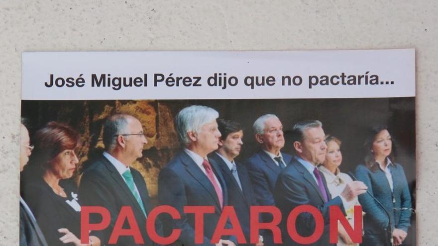 Folleto denunciado por el PSOE en la Junta Electoral de Canarias.