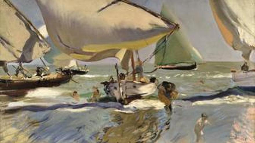 'Barcas en la playa' de Soroya