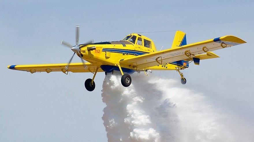 Avión Air Tractor.