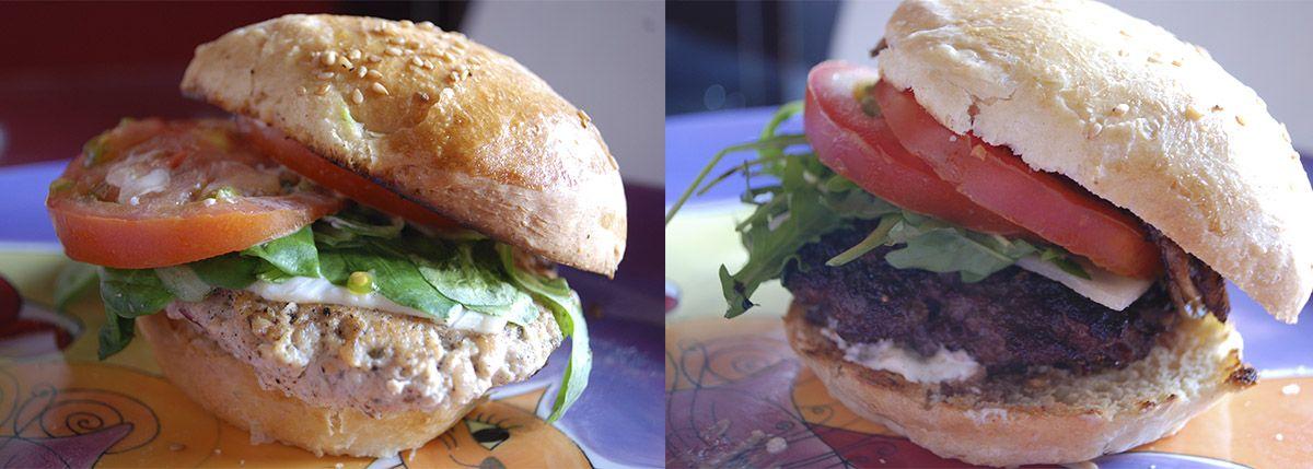 Díptico hamburguesa pollo tandoori y jabalí_Malasaña a mordiscos_Burguer Lab