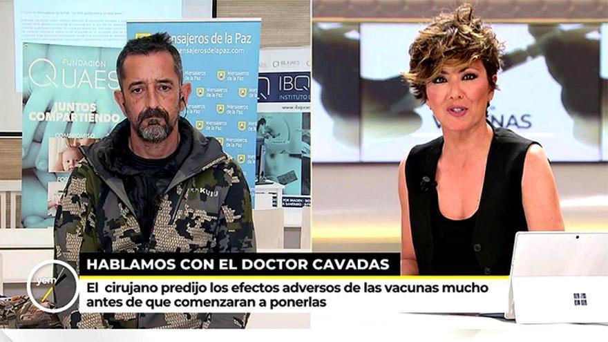 El doctor Pedro Cavadas, con Sonsoles Ónega