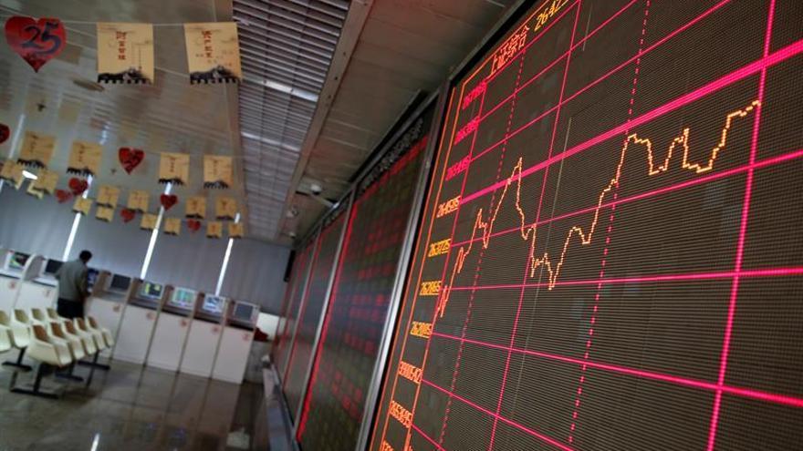 La Bolsa de Shanghái abre la sesión con una subida del 1,34 %
