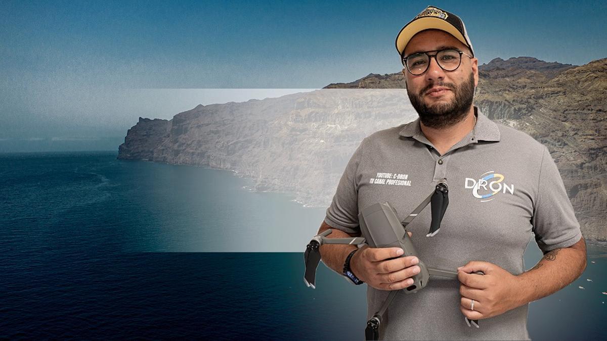 Jonathan Garcia, uno de los docentes del Taller de drones
