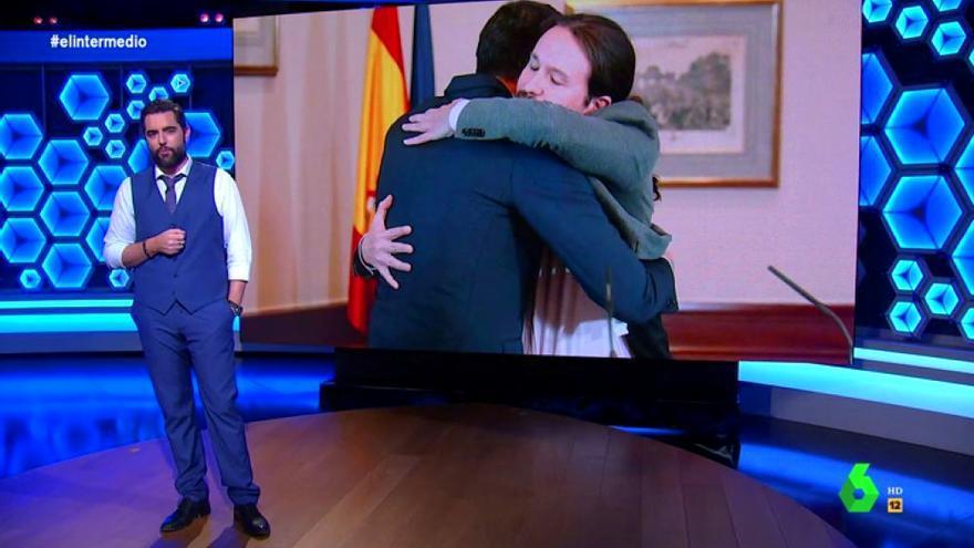 Dani Mateo analiza la relación de Sánchez e Iglesias en 'El Intermedio'