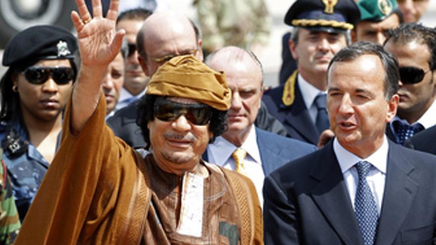 Muammar Gaddafi, presidente de Libia