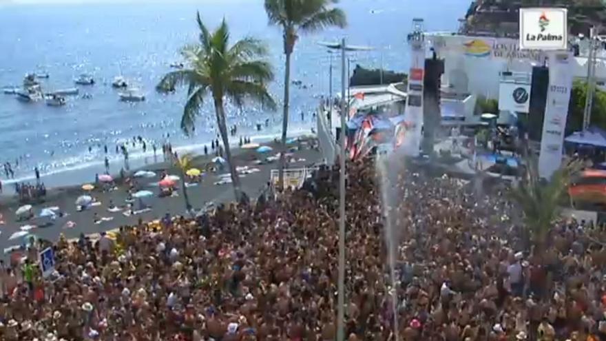 En la imagen, este sábado, la Fiesta del Agua de Puerto de Naos.