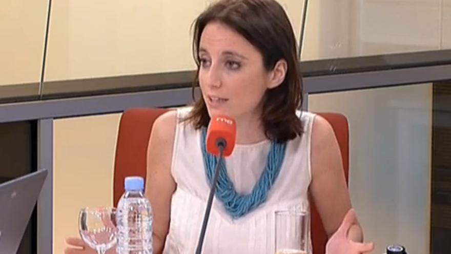 Andrea Levy en una entrevista de RNE