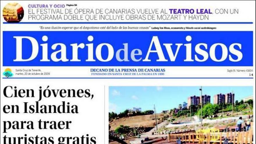 De las portadas del día (20/10/2009) #2