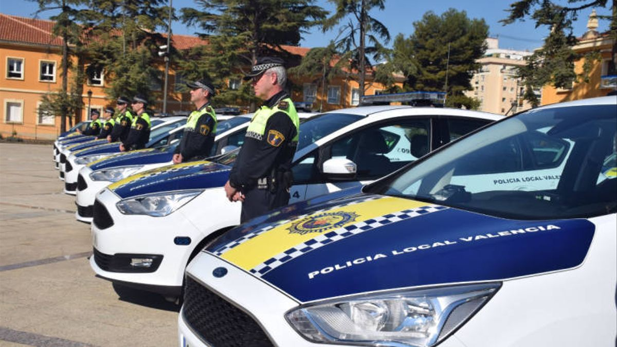 Efectivos de la Policía Local de Valencia.