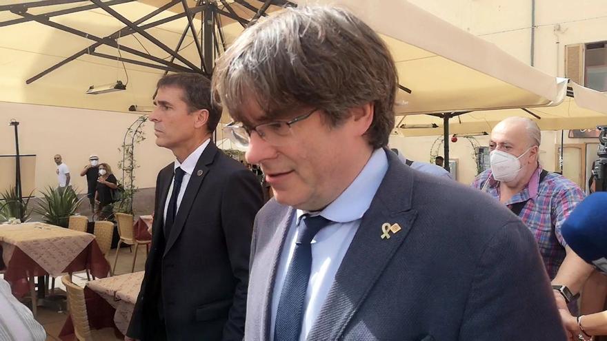 El expresident catalán Carles Puigdemont, el pasado sábado en Alguer, Italia.