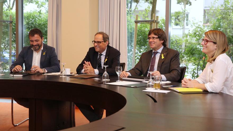 Rius, Torra, Puigdemont y Artadi, en la reunión en Berlín del jueves