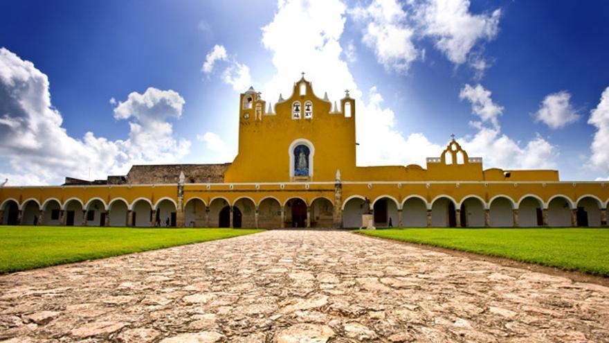 El convento de San Antonio de Padua, en Izamal.