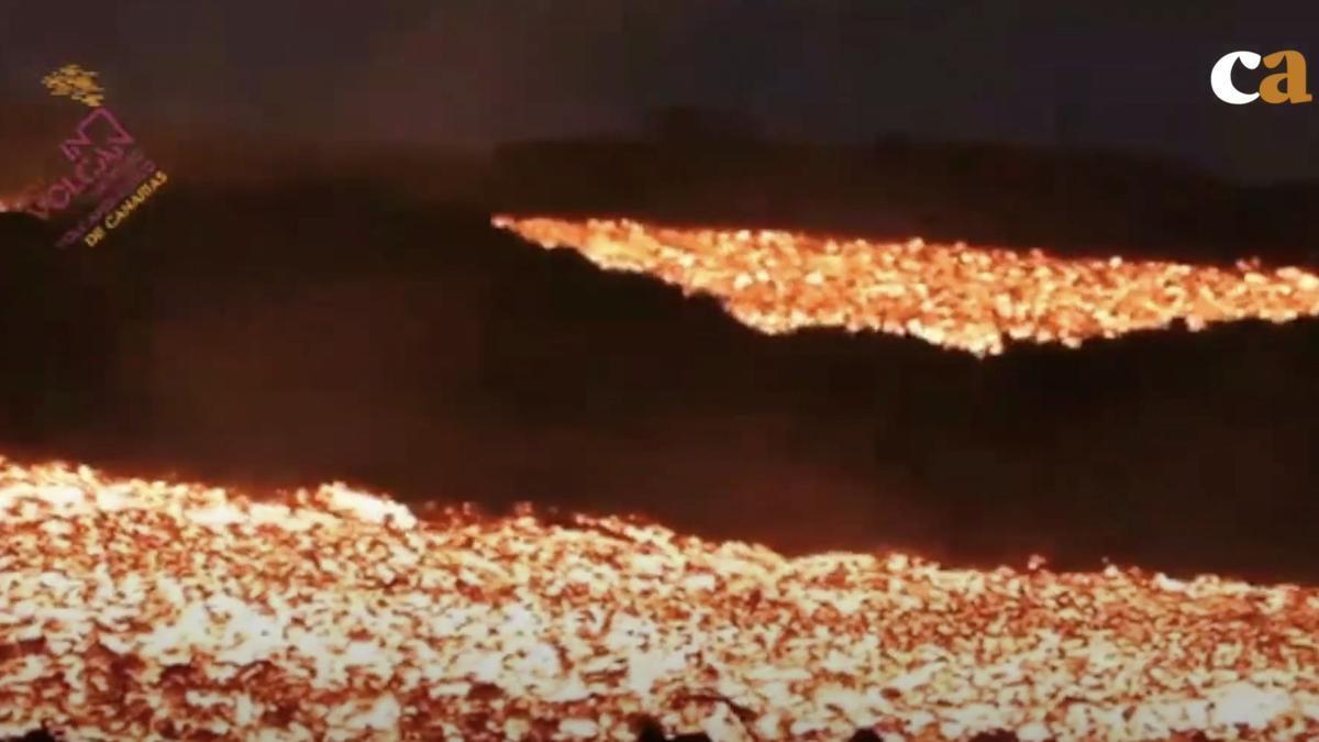 Caminos de lava del volcán de La Palma