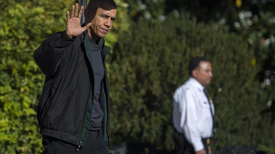 El presidente de EE.UU., Barack Obama, llega a la cumbre del G20 a Antalya