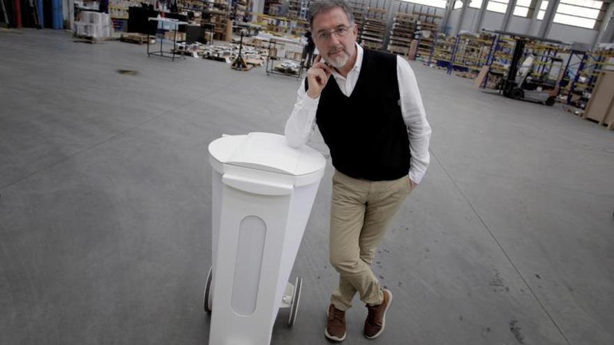 José Antonio Pena, director ejecutivo de la compañía pontevedresa Ocean Kube, posa durante la entrevista.
