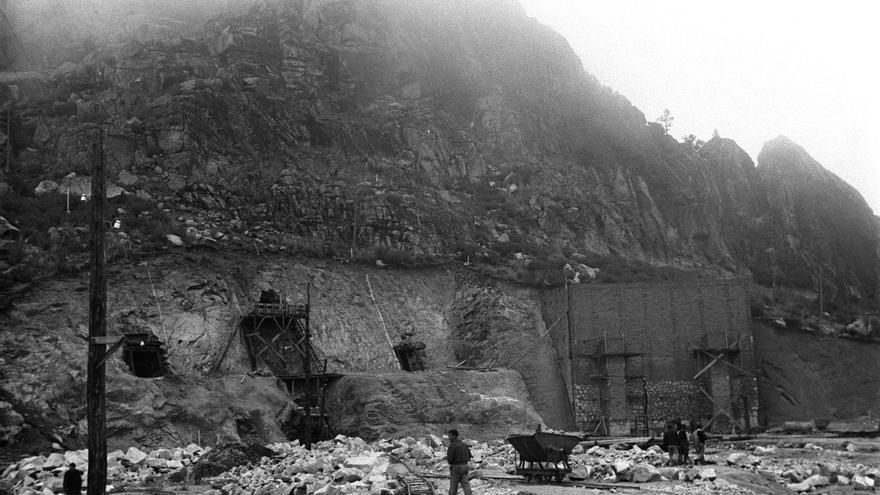 Obras en el Valle de los Caídos, en 1943