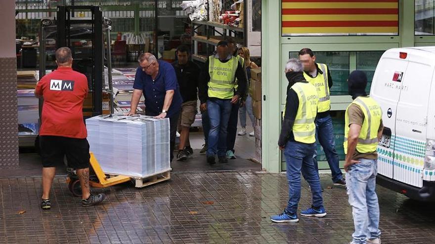 La Guardia Civil intervino más de 1,3 millones de material de propaganda del 1-O