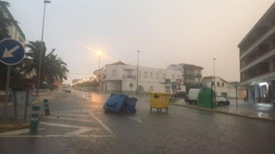 La tormenta en Castuera