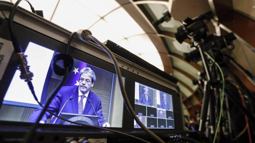 "Gentiloni, al término de la legislatura: ""Italia se ha puesto en marcha"""