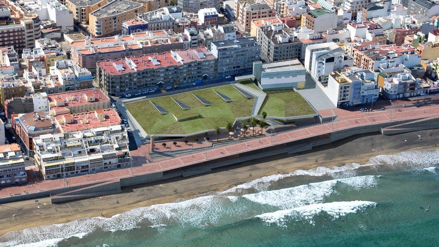 Imagen aérea del nuevo centro Go Fit Las Palmas en la zona de la Cícer.