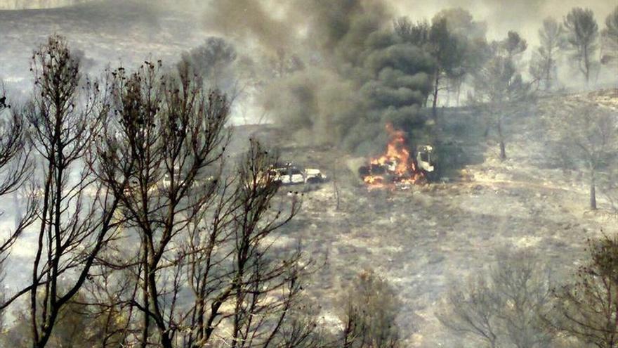 El fuego de Liétor (Albacete) afecta a 700 hectáreas pero ya está perimetrado