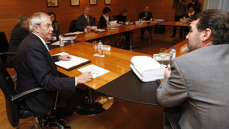 Reunión del Consello da Xunta durante el mandato del bipartito PSdeG-BNG