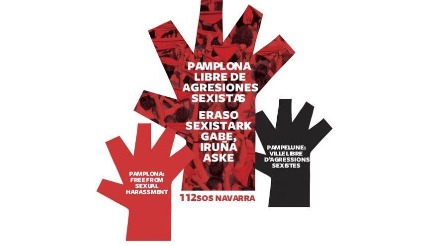 La mano roja empleada contra las agresiones sexistas.