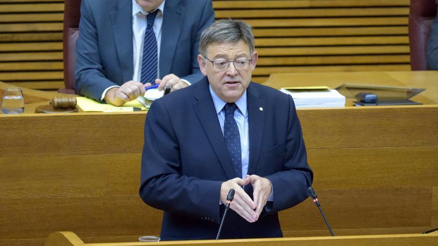 Ximo Puig, durante la sesión de control.